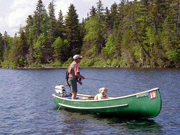 Fly Fishing from a Rangeley Boat